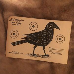 *Vintage NOS Paper Hunting Shooting Target Crow